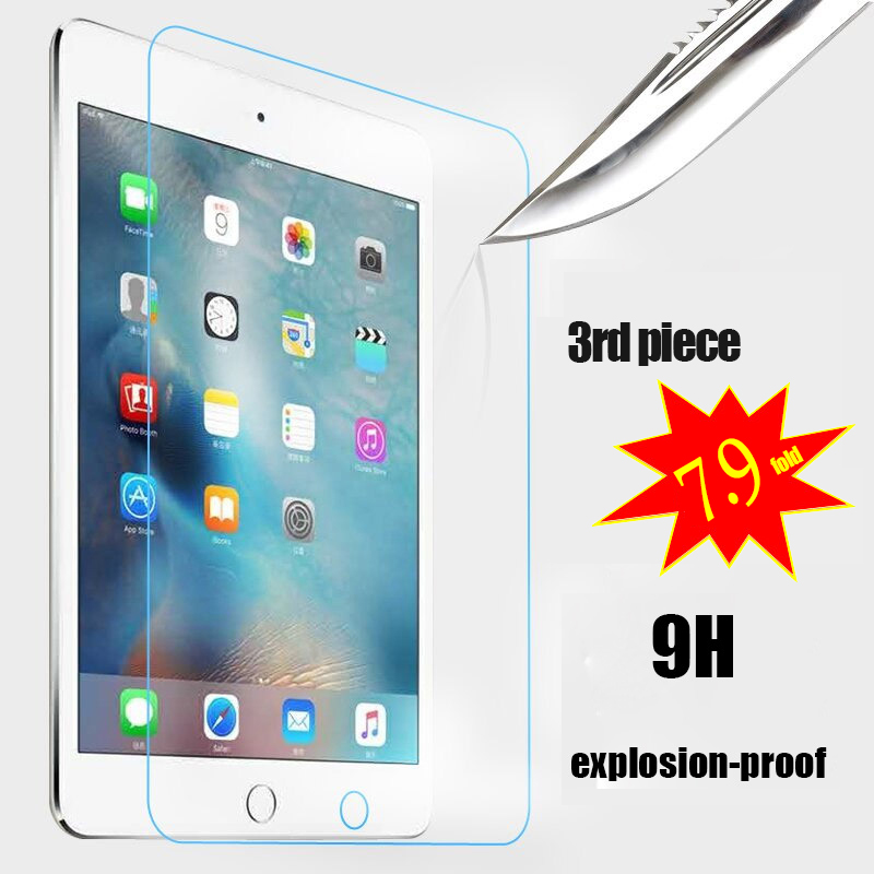2.5D Tempered Glass for Ipad 2 3 4 5 6 Mini 1 2 3 4 Air 1 2 Screen Protector HD Explosion Proof Screen Protector film cover case