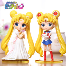 Princess Serenity March Hare Sailor moon hand-done anime action figures PVC model doll 14cm boxed toy brinquedos kids girls gift