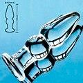 Мм 32 мм Pyrex Стекло Анальная пробка Анальный фаллоимитатор Кристалл анус бисера фаллоимитатор член Женская мастурбация мужской взрослых Секс игрушки - фото
