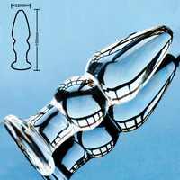 32mm Pyrex glas butt plug anal dildo kristall anus perle gefälschte penis dick weibliche masturbation männlichen erwachsenen sex spielzeug für frauen männer homosexuell