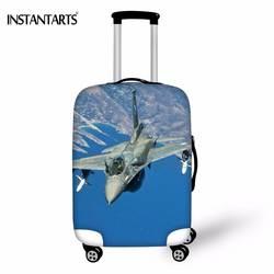 Instantarts путешествие по дороге Самолет печати Чемодан защитный Чехлы для мангала для 18-30 дюймов чемодан упругой утолщаются случае пыль дождь