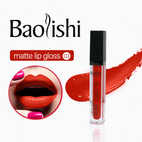 Baolishi New Matte Lip Gloss Waterproof Full Color Tint Nude Liquid Lipstick Non Stick Cup Lipgloss