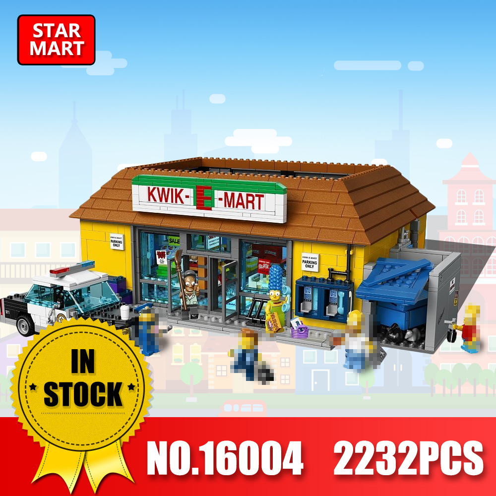 LEPIN 16004 2232Pcs the Simpsons KWIK-E-MART Action Model Building Block Bricks Compatible legoINEs 71016