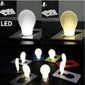 Tarjeta de Bolsillo portátil LED Lámpara de La bombilla Tamaño Cartera Nuevo Diseño nightlight niños noche de luz led mini luces de la noche
