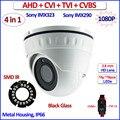 4en1 imx290 CVI TVI AHD cámara domo imx323 Sensor 1080 P 2.0MP cámara de seguridad de vigilancia, SMD Led, 3.6mm de la Lente, CVBS, OSD