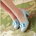 Леди дешевые сексуальные боути большой size11 12 лакированной кожи вокруг пальца площади толстые med-каблуки женщины тонкие обувь летний стиль sanadals девушки