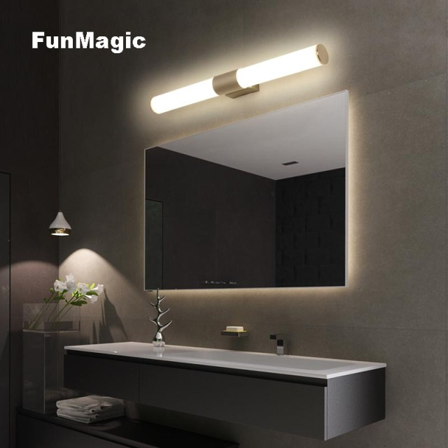 Modern Aluminum LED Wall Lamp Bathroom Cabinet Front Mirror Light Bathroom  Vanity Light Wall Mounted Sconces Dresser Lighting