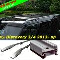 Carro telhado Rails carga bagagem Rack de alta resistência alumínio prata / preto para Land Rover Discovery 3 4 - UPS frete grátis