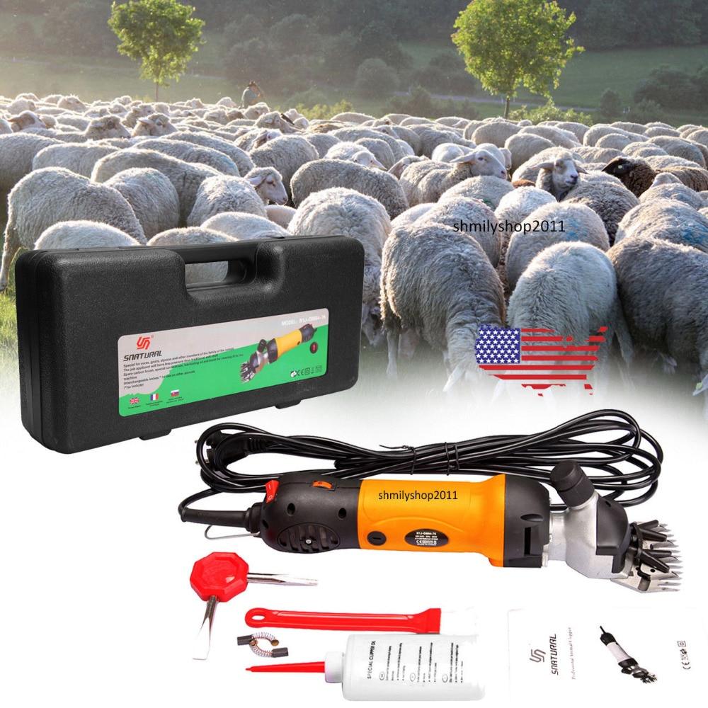(Shipping From DE)380W 2400 RPM Electric Sheep shearing machine For Sheep/Sheep Goat Clipper 220v electric shearing machine sheep goat clipper 690w 2800r min y
