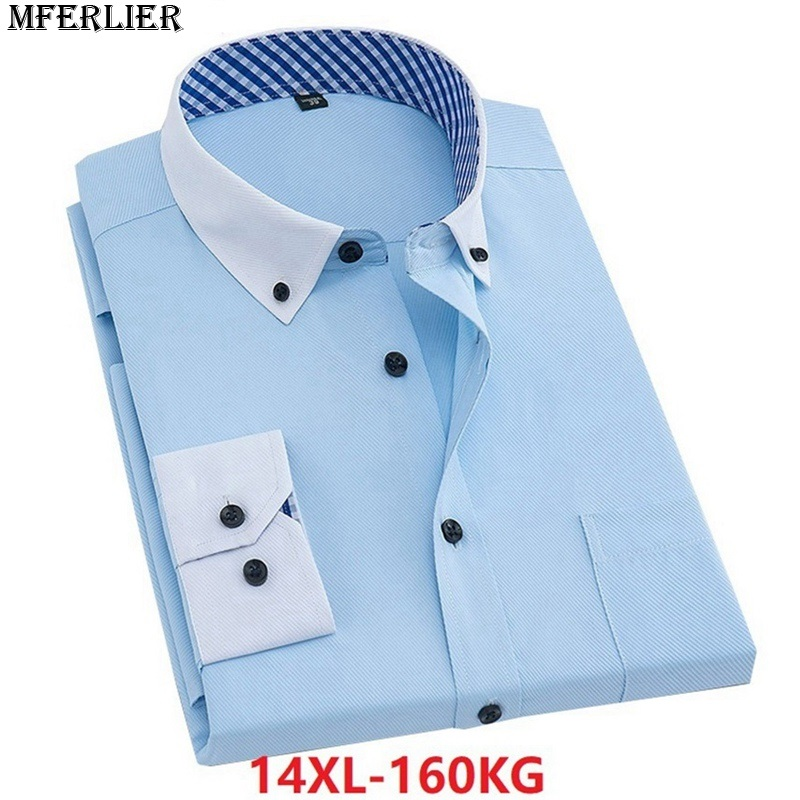 NatrE Men Long Sleeve Leisure Slim Fit Double Threshold Fake Two Piece Dress Shirt