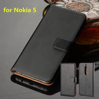 Premium Leather Flip Cover For Nokia 5 Luxury Wallet Case For Nokia 5 5 2 Inch