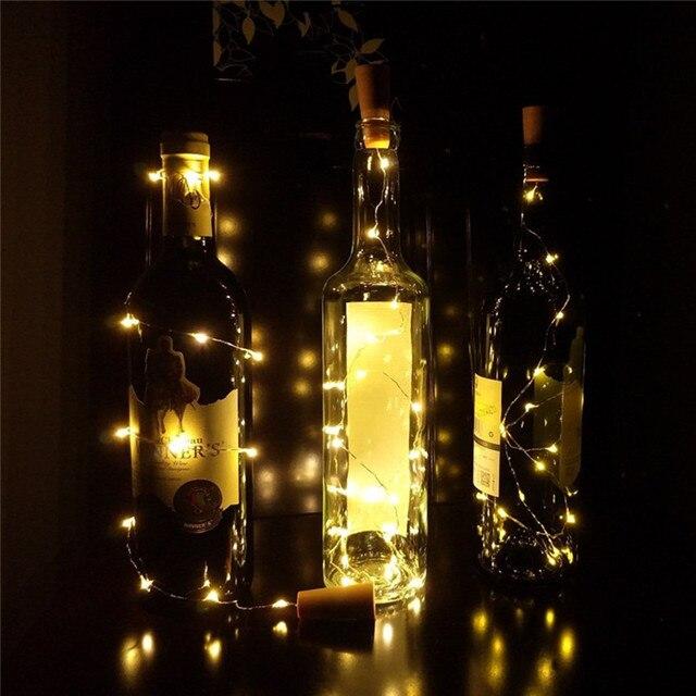 1 M 2 M Argent Fil De Cuivre Guirlande LED Guirlande Lumineuse