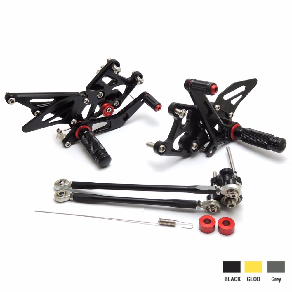 KEMiMOTO Rear Sets 2007-2012 CBR600RR CNC Adjustable Rearset Foot Pegs For Honda CBR600RR 2007 2008 2009 2010 2011 2012 kemimoto 2007 2014 cbr 600 rr aluminum radiator grille grills guard cover for honda cbr600rr 2007 2008 2009 2010 11 2012 13 2014