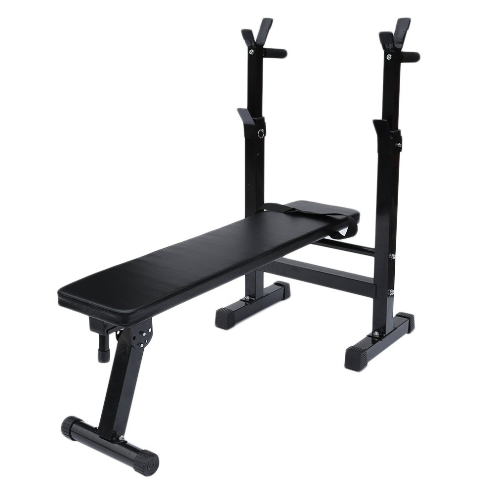 купить Weight Training Bench With Barbell Shelf Home Gym Workout Weight Bench Dumbbell Barbell Lifting Training Fitness Exercise Bench недорого