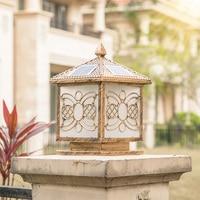solar lights outdoor waterproof pillar lamp dusk to dawn light square solar power lights waterproof yard landscape