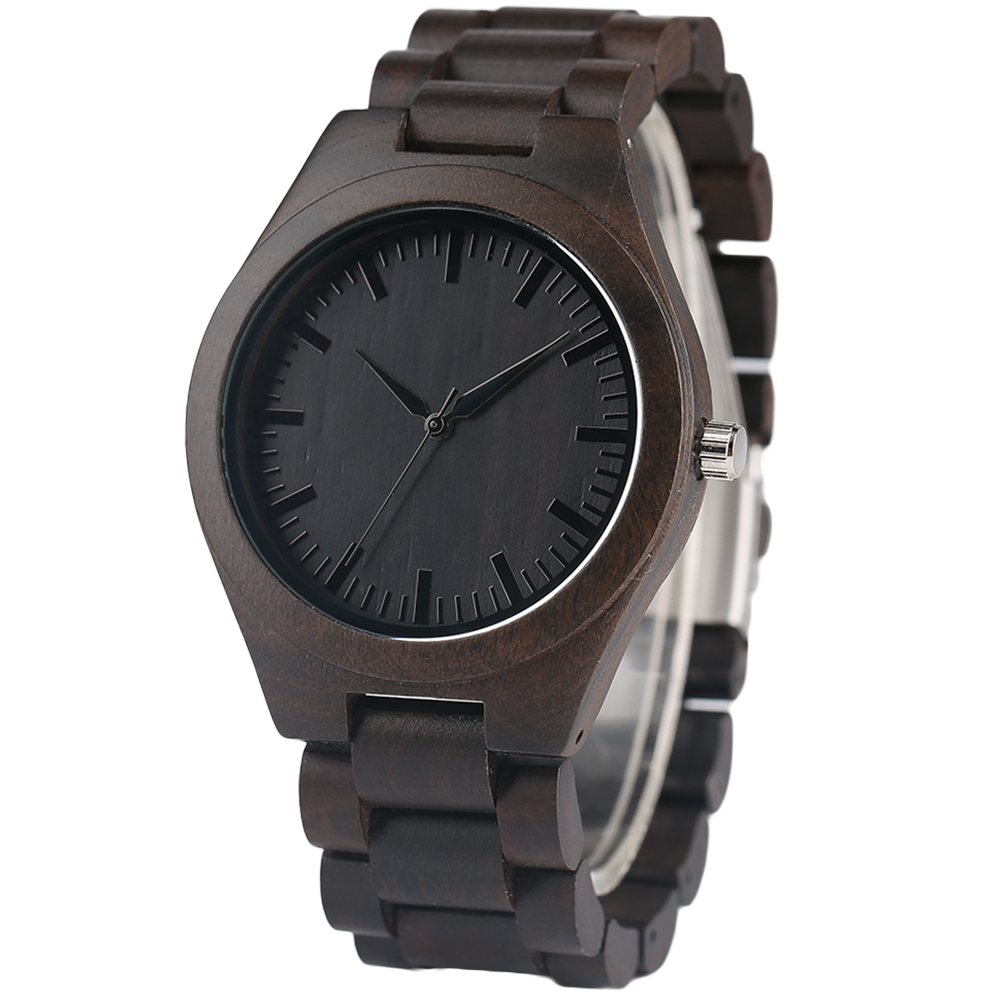 YISUYA Nature Bamboo Wood Creative Watches Men Casual Sport Wooden Quartz Wrist Watch Men Women Flod Clasp Band Bangle Clock  (2)