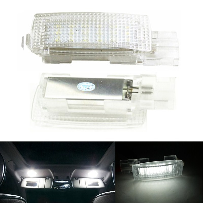 Vanity Light For Car Visor : 2x 18 Error Free LED Car Interior Light vanity mirror visor Lamp For VW EOS GOLF5 6 GOLF PLUS ...