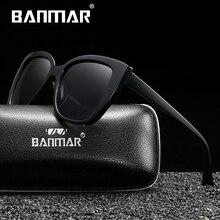 BANMAR Women Sunglasses Polarized Retro Big Frame Luxury Eyewear Plastic Lady Brand Designer Sun glasses Oculos de sol стоимость