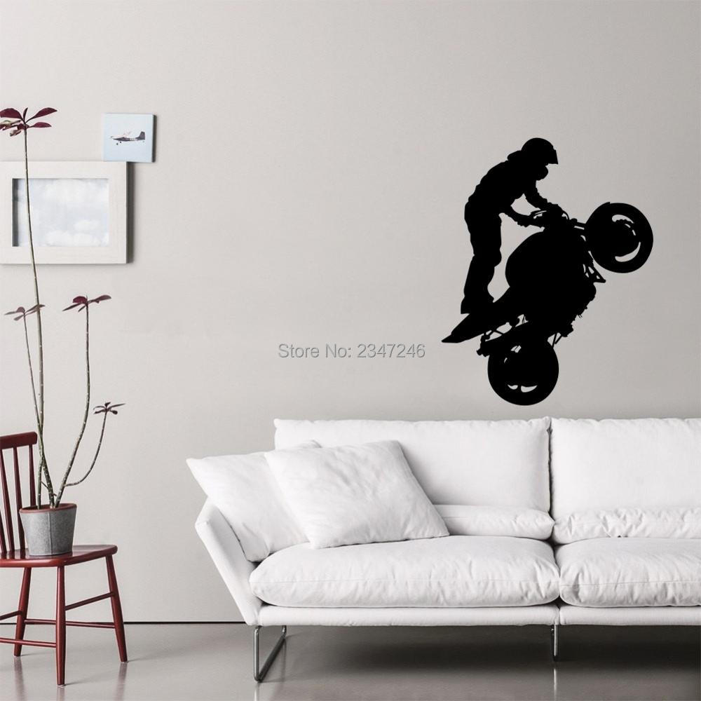 online get cheap stylish tiles aliexpress com alibaba group motorcycle man wall decal stylish art sticker for boys kids room decoration china mainland