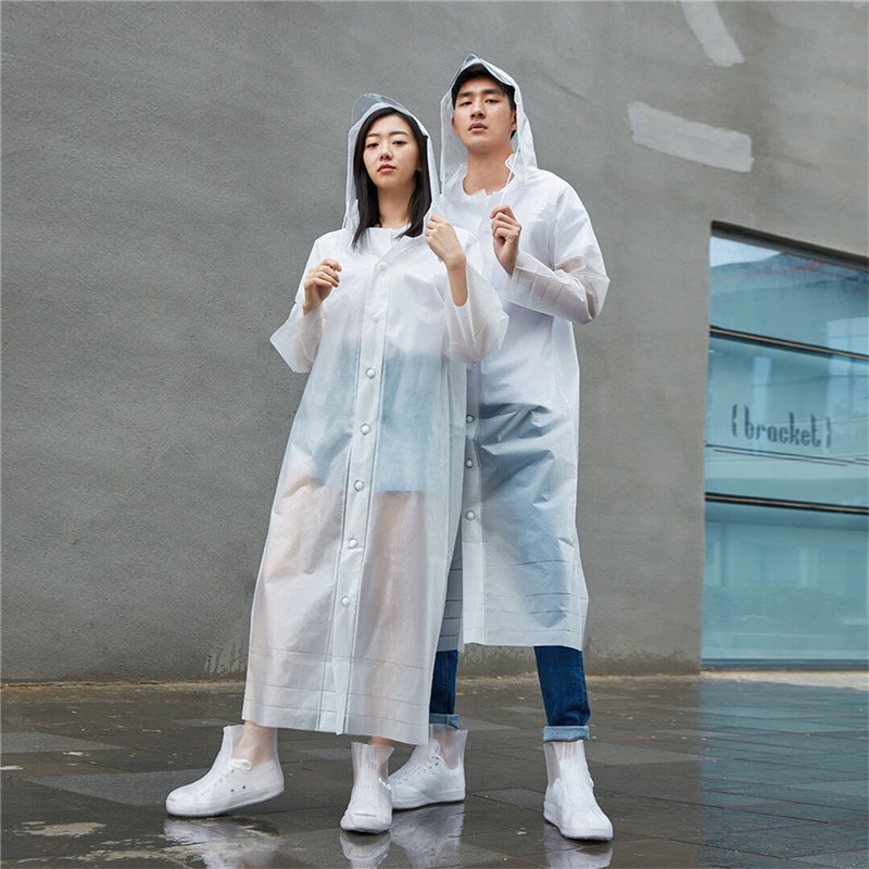 for XIAOMI EVA Women Men Raincoat Thickened Hat removable Waterproof Rain Coat Clear Transparent Camping Waterproof Rainwearfor XIAOMI EVA Women Men Raincoat Thickened Hat removable Waterproof Rain Coat Clear Transparent Camping Waterproof Rainwear