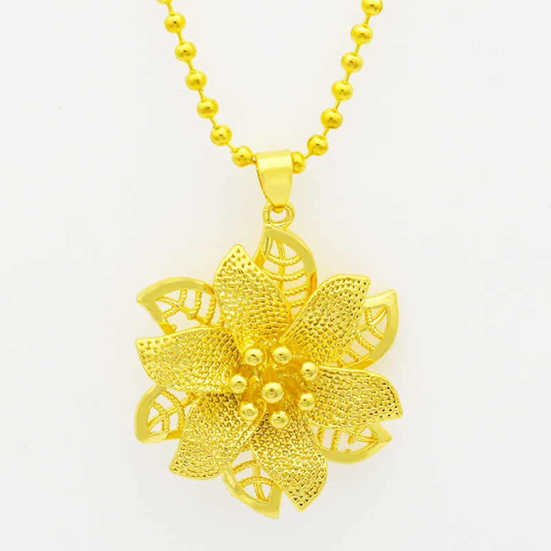 Gold Mandala Indian Rose Flower Pendant Necklace,Fashion Jewelry ...