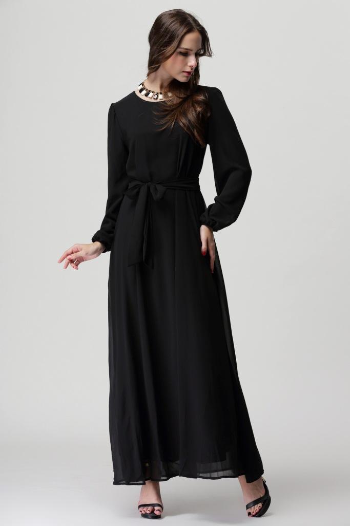 eaa630fef5 2017 New chiffon musilm abaya dress,plus size dress Abayas Malaysian Muslim  Women Dress Sunday clothes