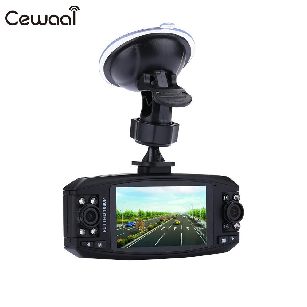 Cewaal 5 MP 2.7 inches Camera Driving Data Recorder Car HD 1080P 120 Degree Wide Angle Two Lens Battery Charger Camcorder Cam vadiboer f8 professional 6 channels mixer console with bluetooth effect 48v phantom power supply mini stage audio console equipm