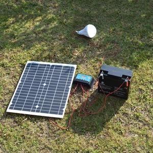 Image 5 - Panel de energía Solar portátil de 20W, celdas, módulo de polímero, cargador de batería, Cable de 1,5 m + controlador de carga Solar de 10A 12V, regulador automático USB