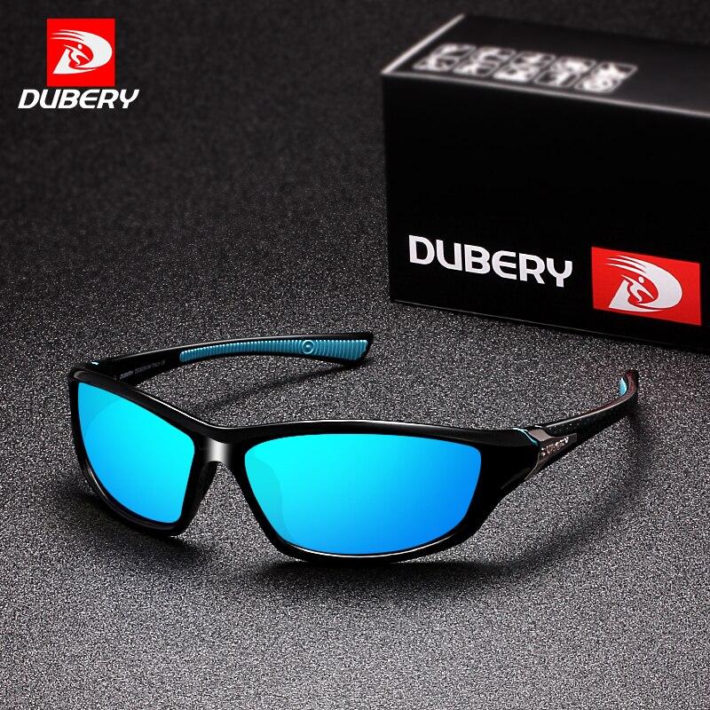 DUBERY Polarisées de Vision Nocturne lunettes de Soleil Hommes Conduite Lunettes de Soleil Pour Hommes Carré de Sport Marque De Luxe Miroir Nuances Oculos