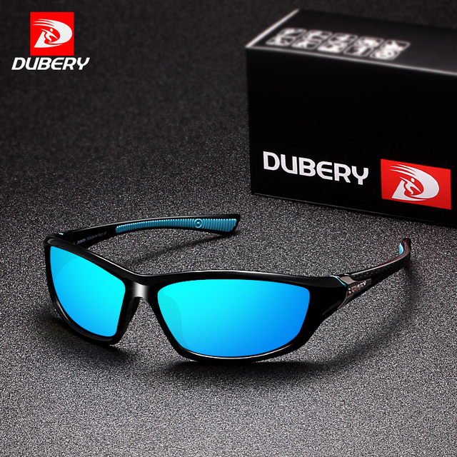f90cefe1d0 DUBERY Polarized Night Vision Sunglasses Men s Driving Sun Glasses For Men  Square Sport Brand Luxury Mirror