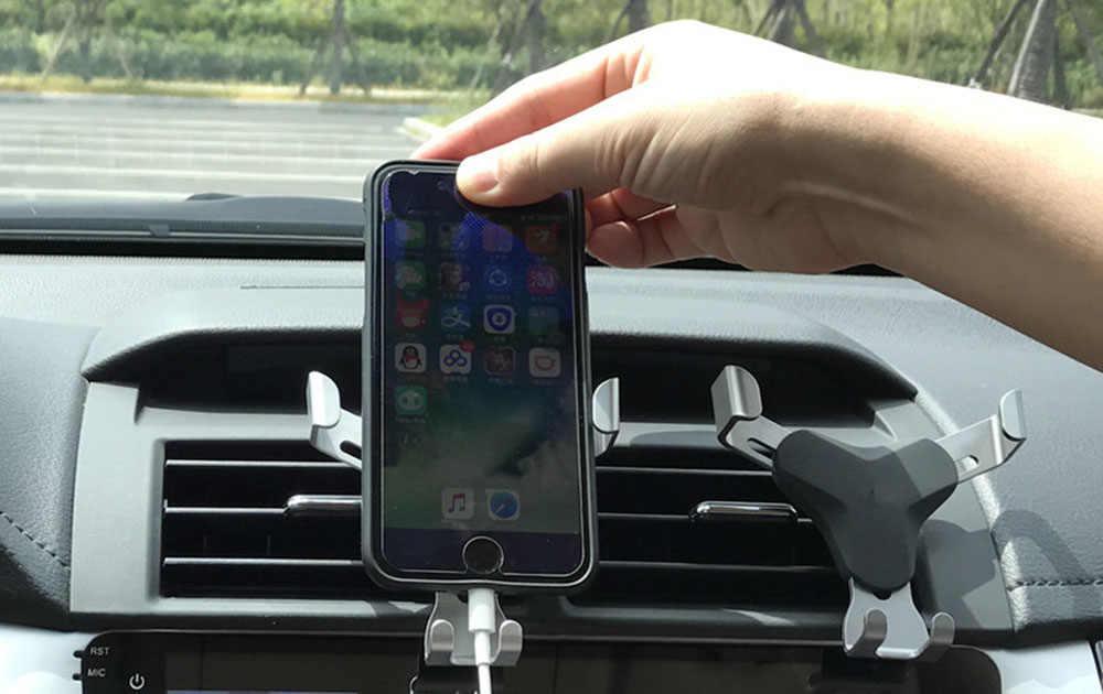 SYRINX Gravità Staffa di supporto Universale Air Vent Supporto da Auto Del Telefono Mobile Del Basamento Per il iphone 7 plus samsung galaxy s9 Auto supporto mobile