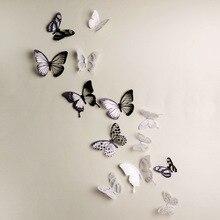 Crystal 18Pcs 3D Butterflies DIY home decor font b wall b font font b stickers b