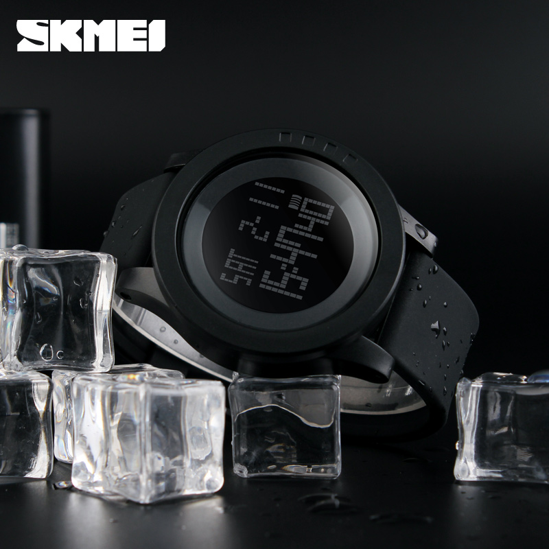 SKMEI Large Dial Elektroniska Män Sport Watch LED Digital Armbandsur - Herrklockor - Foto 4