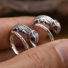 Handmade 925 Silver Chameleon Ring Vintage Sterling Silver Adjustable Ring Thai Silver Unisex Ring