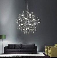 European Restaurant Crystal Chandelier Simple Ball Bedroom Modern Simple LED Creative Living Room Lighting Dining Room