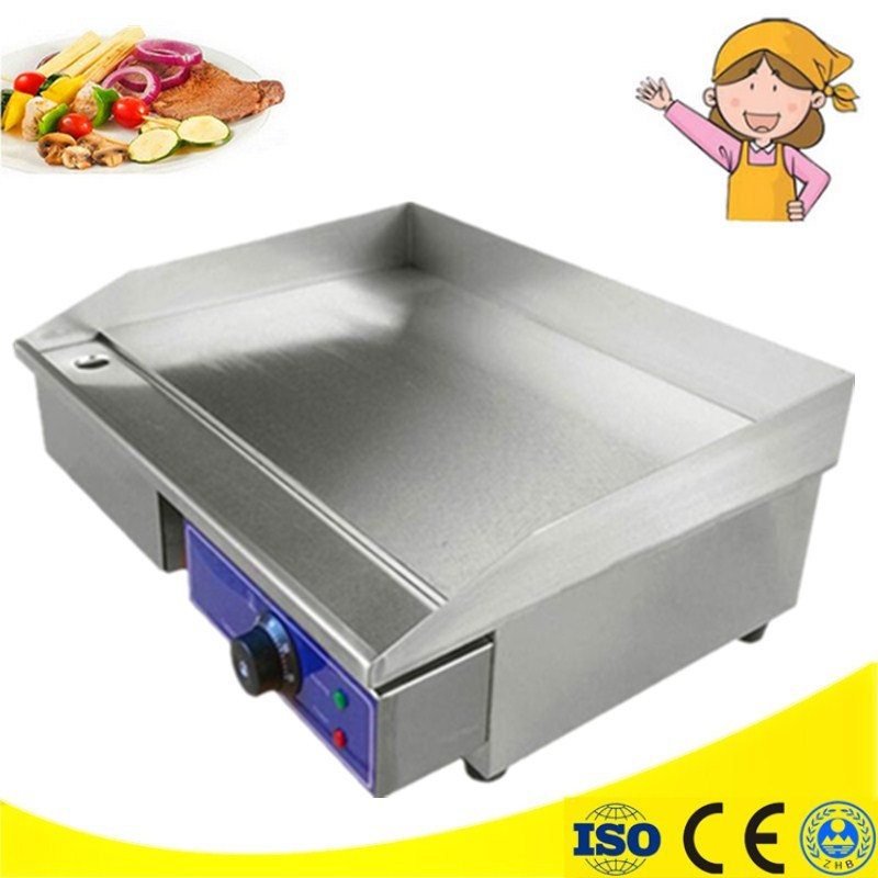 Hot Sale 3KW Electric Griddle Grill Hot Plate Stainless Steel Commercial BBQ Grill цена 2017