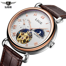 Men Watches 2017 LIGE Men Watches Brand Luxury Famous Military Watch Men Clock Skeleton Automatic Wristwatch Relogio Masculino