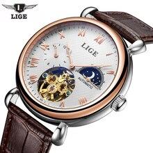 Men Watches 2017 LIGE Men Watches Brand Luxury Famous Military Watch Men Clock Skeleton Automatic Wristwatch Relogio Masculino