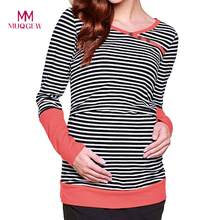 Shirt Nursing Tops for Pregnant Women Long Sleeve Cotton Women's Nursing Long Sleeves Solid Tops Breastfeeding Sweatshirt T-Shir(China)