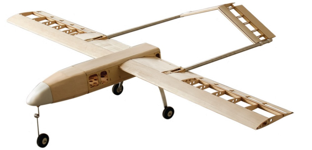 AAI RQ-7 Shadow FPV 2000mm Laser Cut Kit Woodiness model /WOOD PLANE