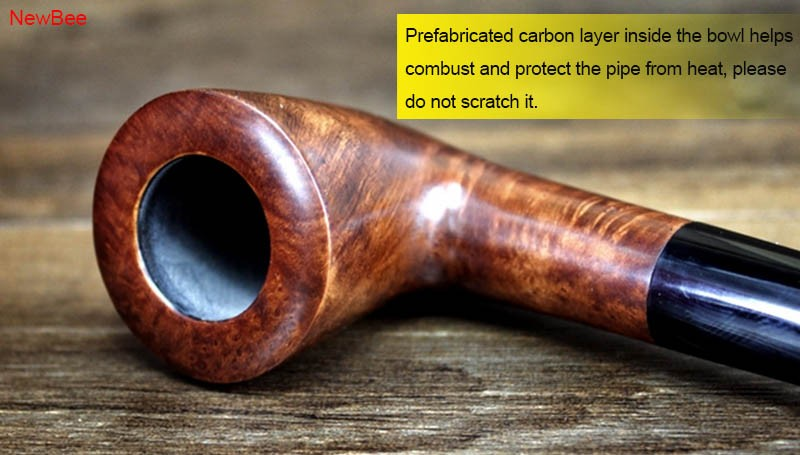 6 imported briar wood pipes handmade long stem pipes for reading flavored tobacco pipes