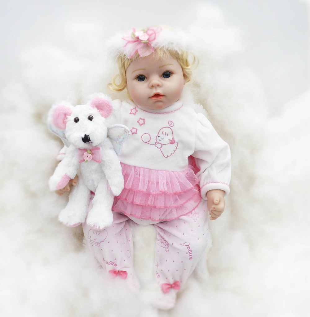 55cm Soft Silicone Reborn Baby Doll Toys Like Real Angel Newborn Princess Toddler Dolls With Accessory
