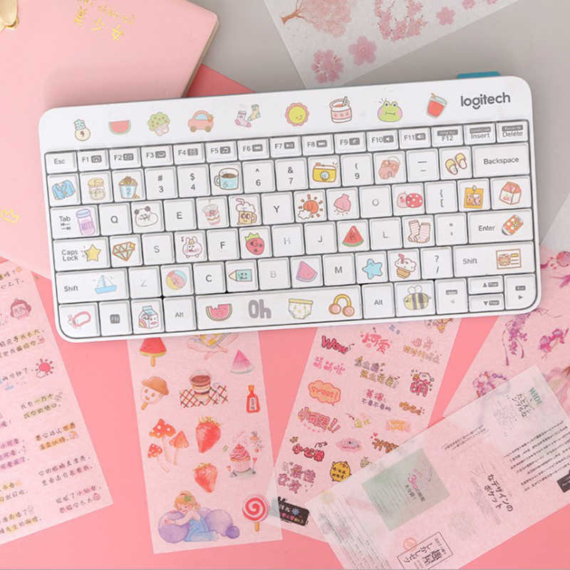 6 stks/partij Kawaii Eenhoorn Hand Made Stickers Bullet Journal Leuke Decoratieve Dagboek Scrapbooking Planeet Sticker Koreaanse Briefpapier