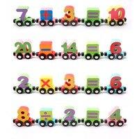 3D Puzzles Kids Children Puzzle Toys Train Letters Toys Alphabet Wooden Colourful Train Letters Personalized Oyuncak Wooden Toys