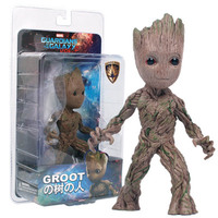 Baby Groot Action Figure Toy PVC Guardians of the Galaxy Boy Gift Tree Man Movie Hero Model Doll Best Gift Home Office Decor