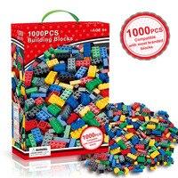 1000 Pieces City Building Blocks Sets Legoings DIY Creative Bricks Bulk Model Figures Educational Kids Toys for Children