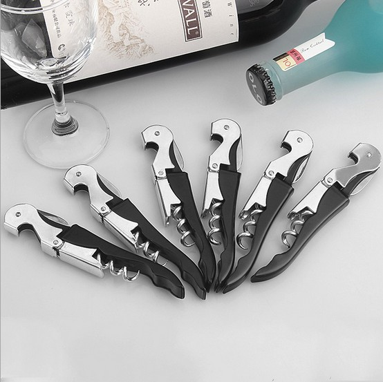 1PC Parrot Bottle Opener Whit Hippocampal Knife Stainless Steel Corkscrew KX 173