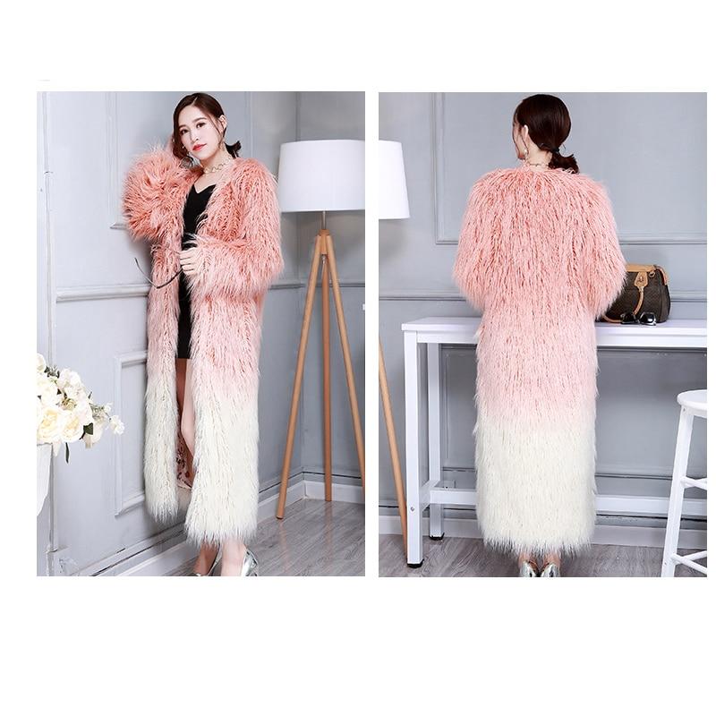 S 6xl Qualité Mode Grande Haute Hiver Femmes Fourrure Nouveau Chaud Long Couleur Imitation Taille De Épaississement 1 Manteau Changement bI76gvYfy