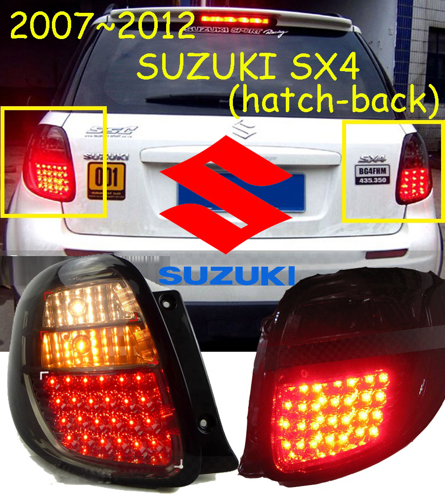 car-styling,SX4 Taillight,2007~2012,led,Free ship!2pcs,SX4 fog light;car-covers,SX4 tail lamp;SX 4,Vitara,Jimny,Swift car styling golf6 taillight 2011 2013 led free ship 4pcs golf6 fog light car covers golf7 tail lamp touareg gol golf 6