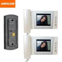 4.3 LCD monitor video doorbell door phone system video interphone kits IR Night Vision pinhole Camera video intercom 2 Screen